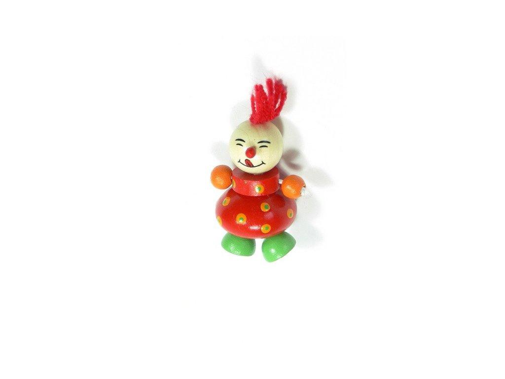 Magnetka - Klaun červený (doprodej)