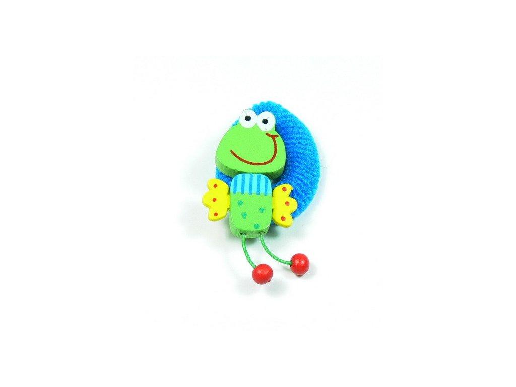 Gumička do vlasů - žabka 2 (doprodej)