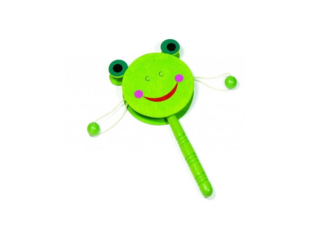 Bubínek na držadle - Žabka