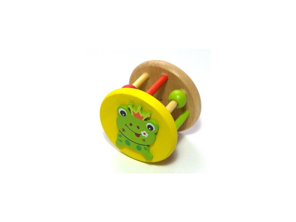 Dřevěné chrastítko - Žabka