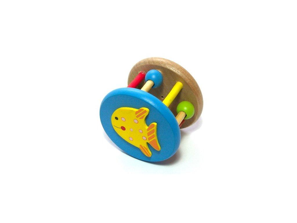 Dřevěné chrastítko - Rybka