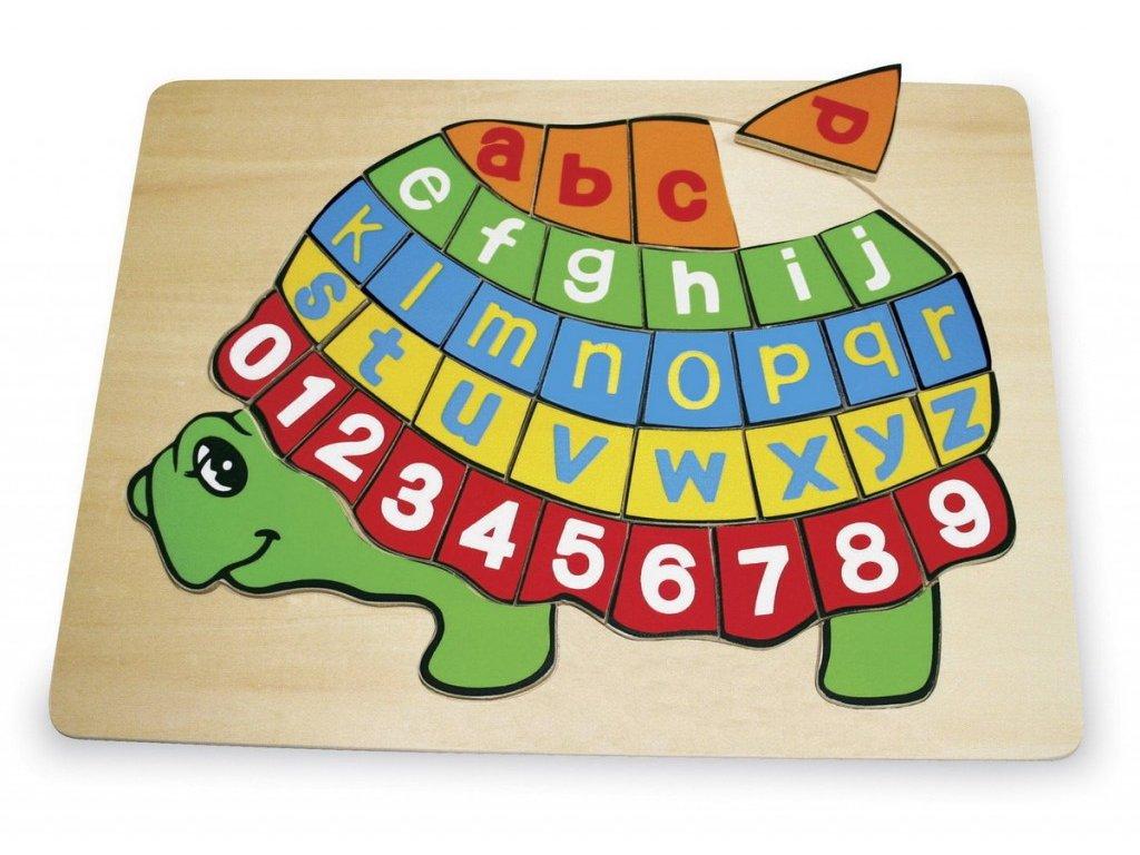 "Písmenkové puzzle ""Želva"""