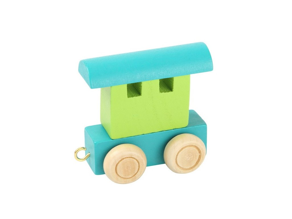 Zadní vagón zelený - barevný vlak
