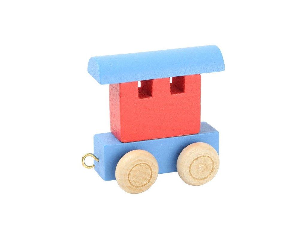 Zadní vagón modročervený - barevný vlak