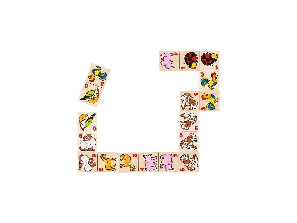 Dřevěné domino zvířátka, 28 dílů