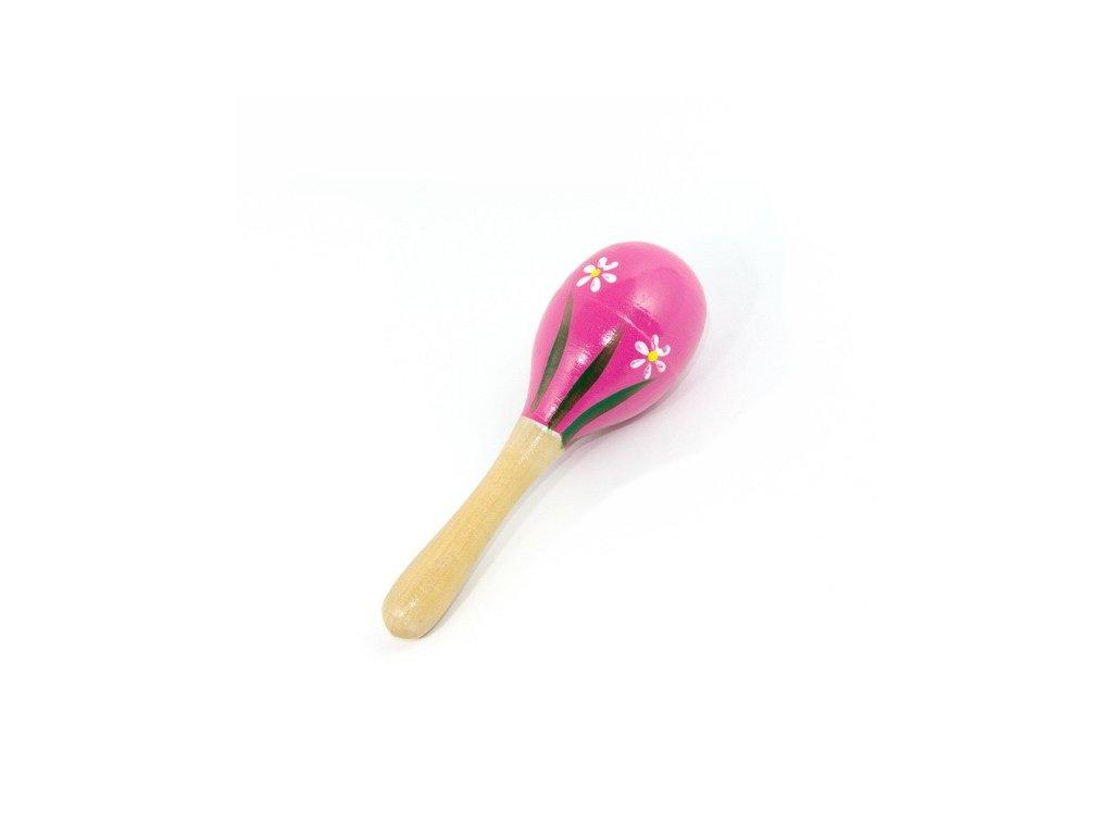 Mini rumbakoule - růžová s kytičkami