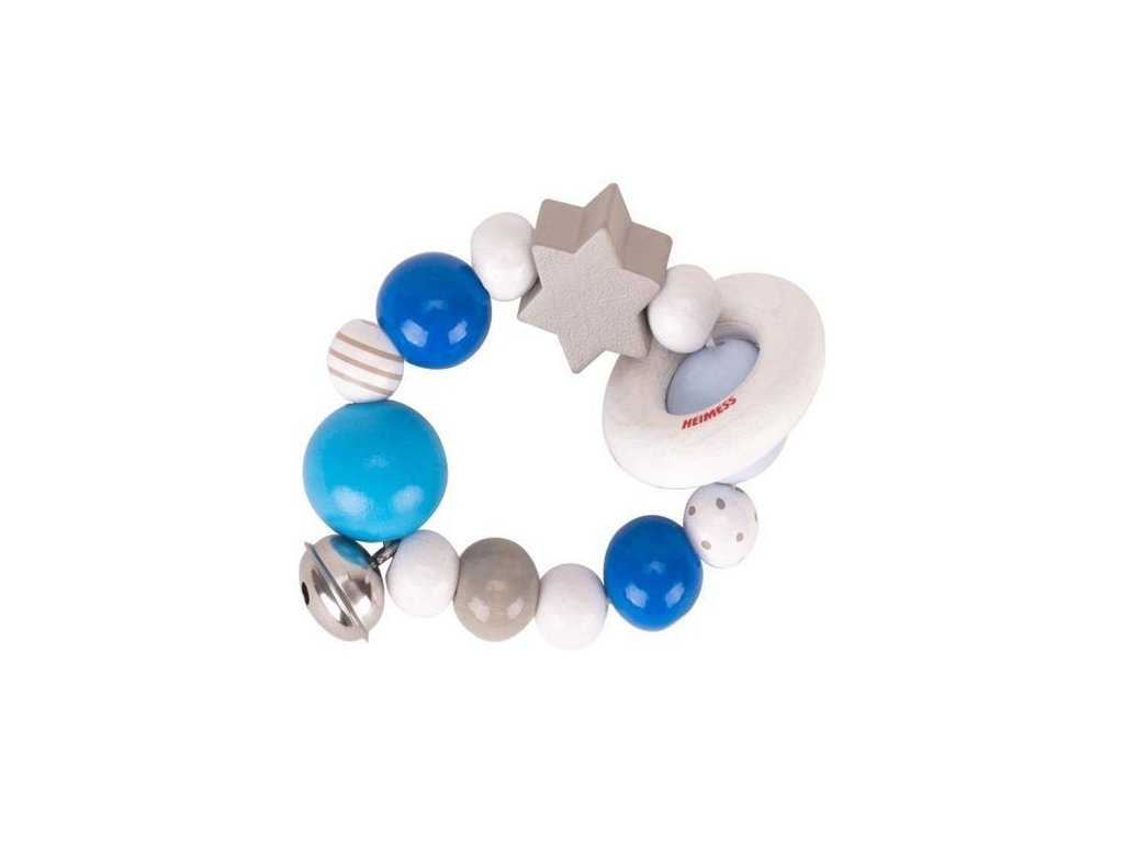 Elastický kroužek modrý s rolničkou