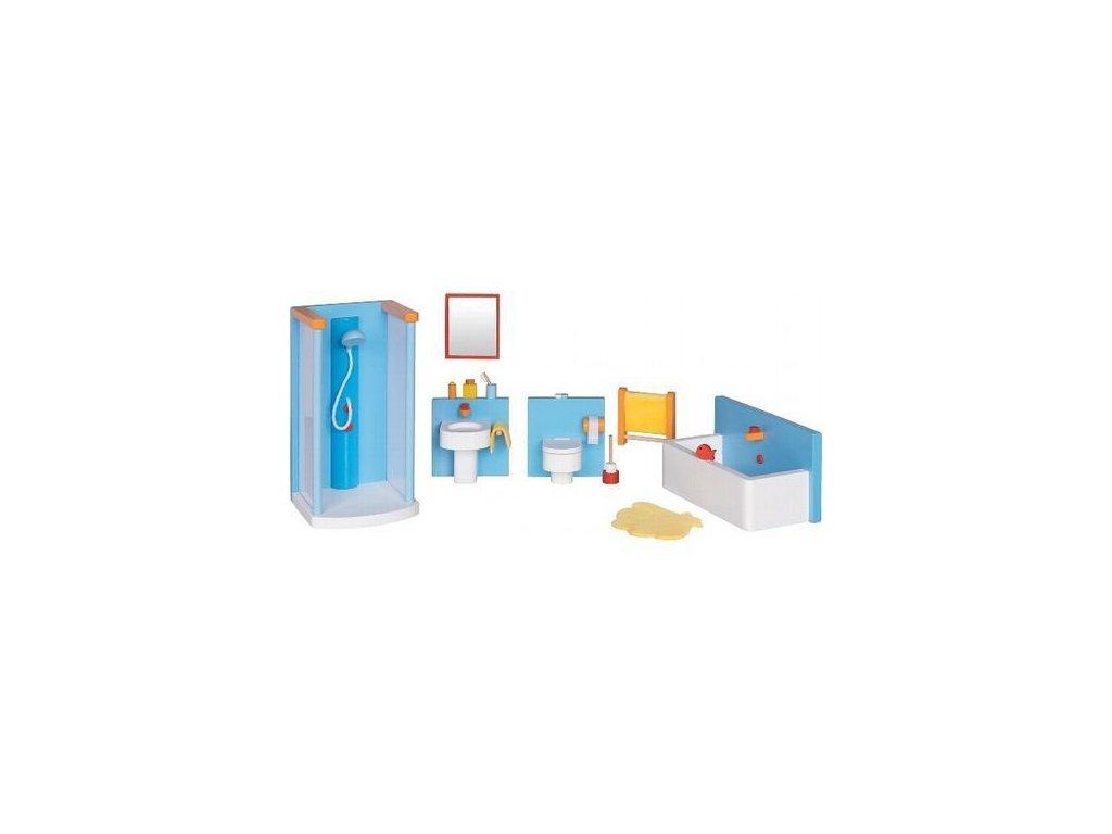 Koupelna – nábytek do domečku pro panenky, 16 dílů