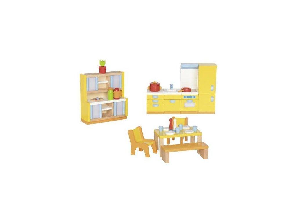 Kuchyňka – nábytek do domečku pro panenky, 27 dílů