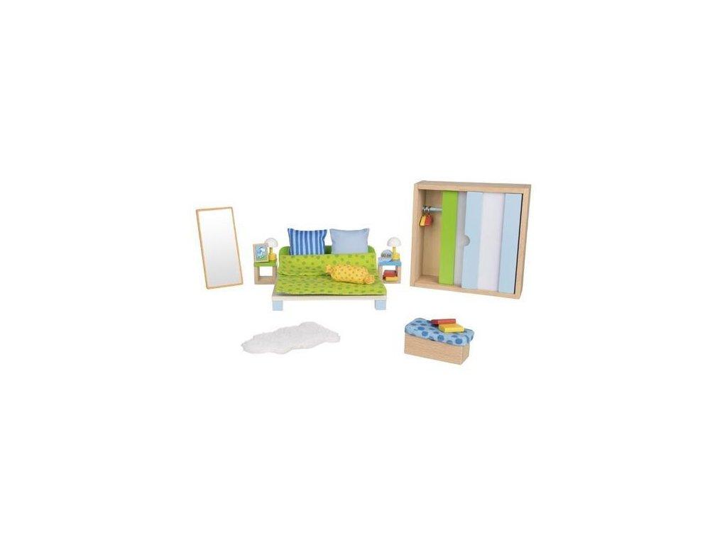 Ložnice – nábytek do domečku pro panenky, 23 díly