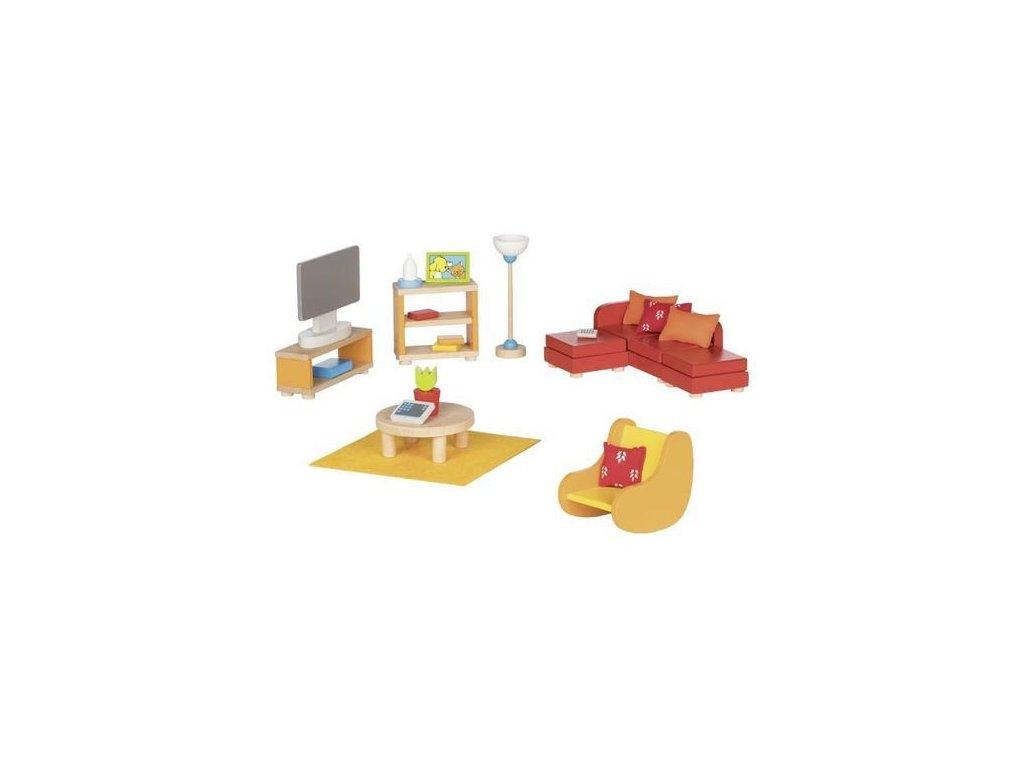 Obývací pokoj – nábytek do domečku pro panenky, 23 díly