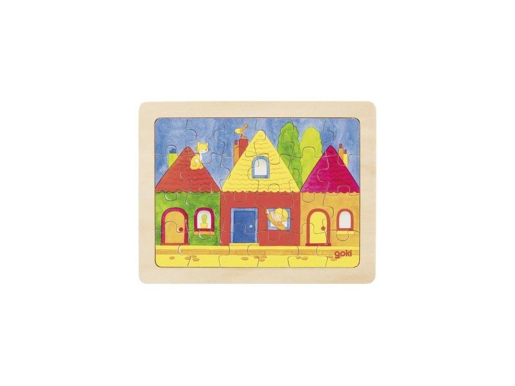 Goki Puzzle domečky - 24 dílů