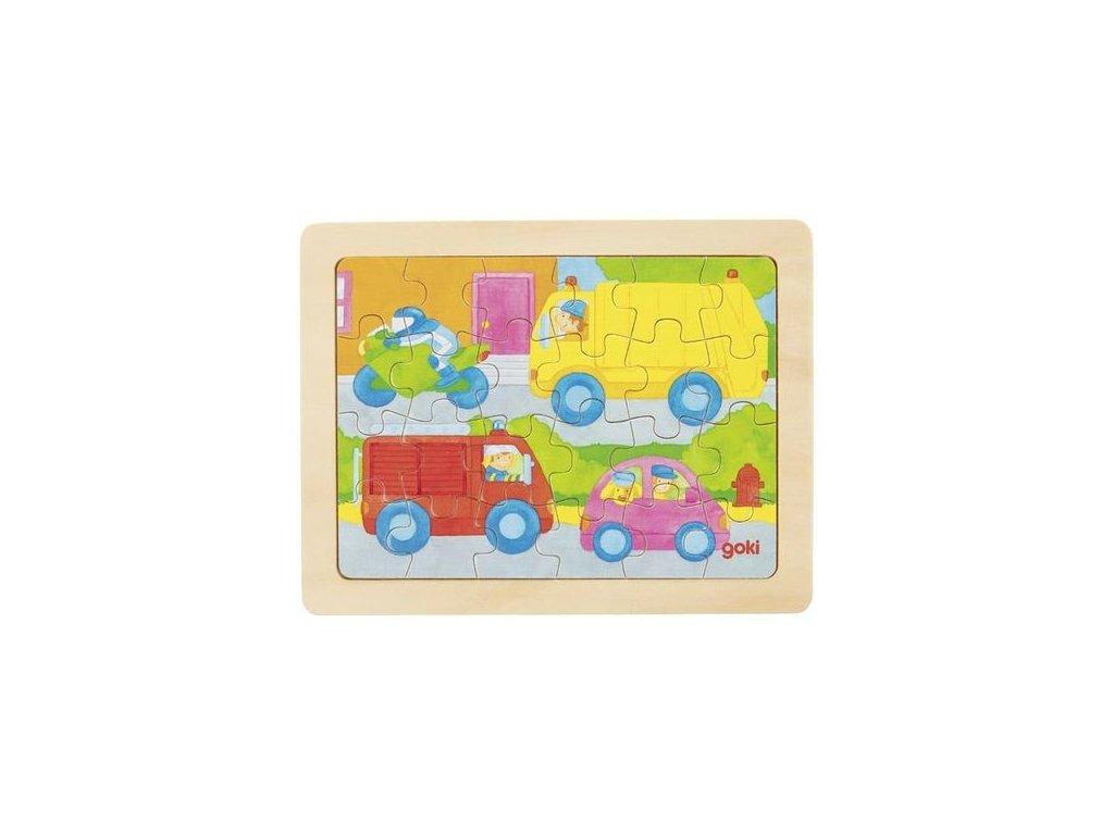 Goki Puzzle auta - 24 dílů