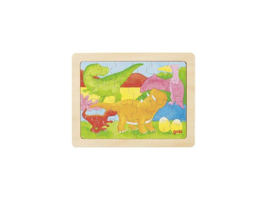 Goki Puzzle dinosauři - 24 dílů