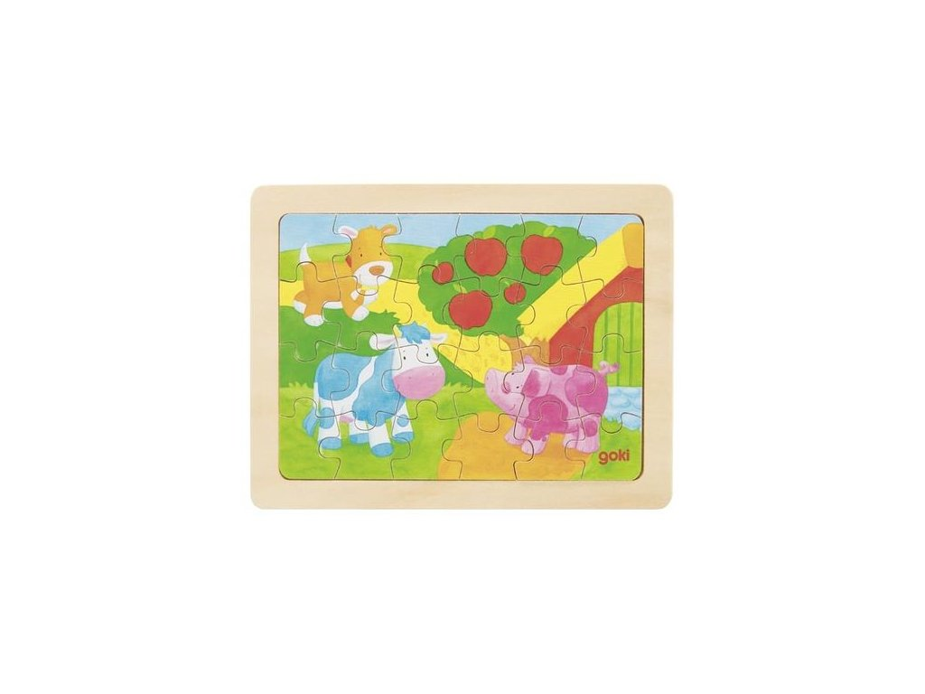 Goki Puzzle farma - 24 dílů