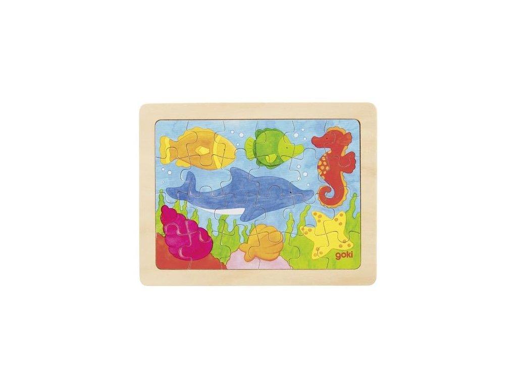 Goki Puzzle mořská zvířátka - 24 dílů