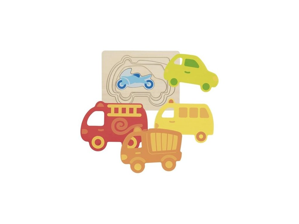 Goki Vícevrstvé puzzle – Dopravní prostředky, 5 dilů