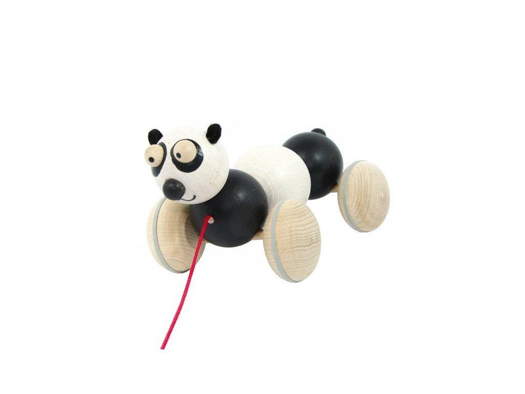Dřevěná tahací panda