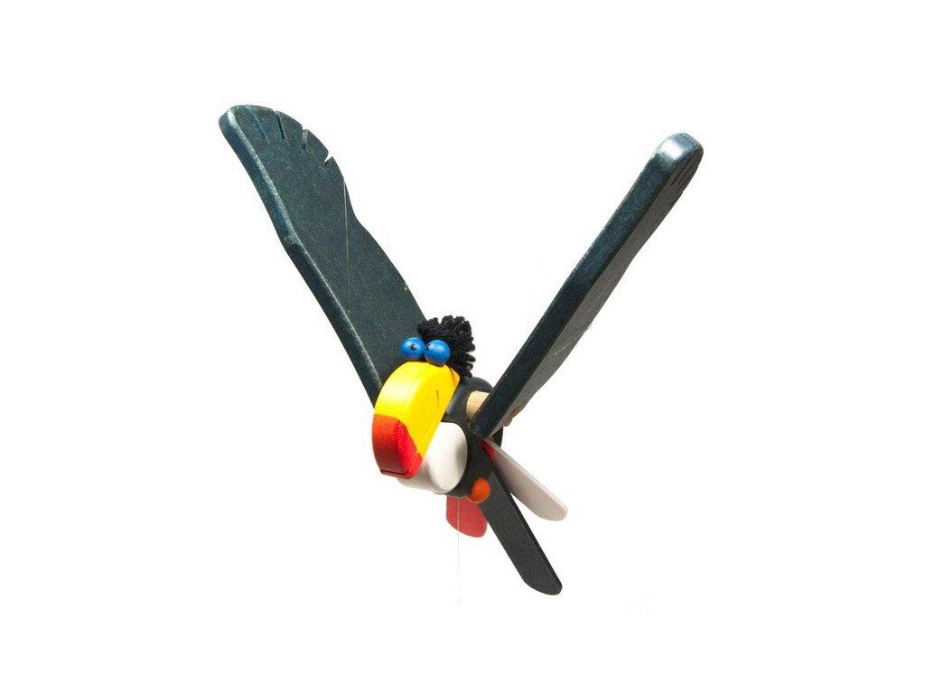 Létací tukan vykulený - modroočko