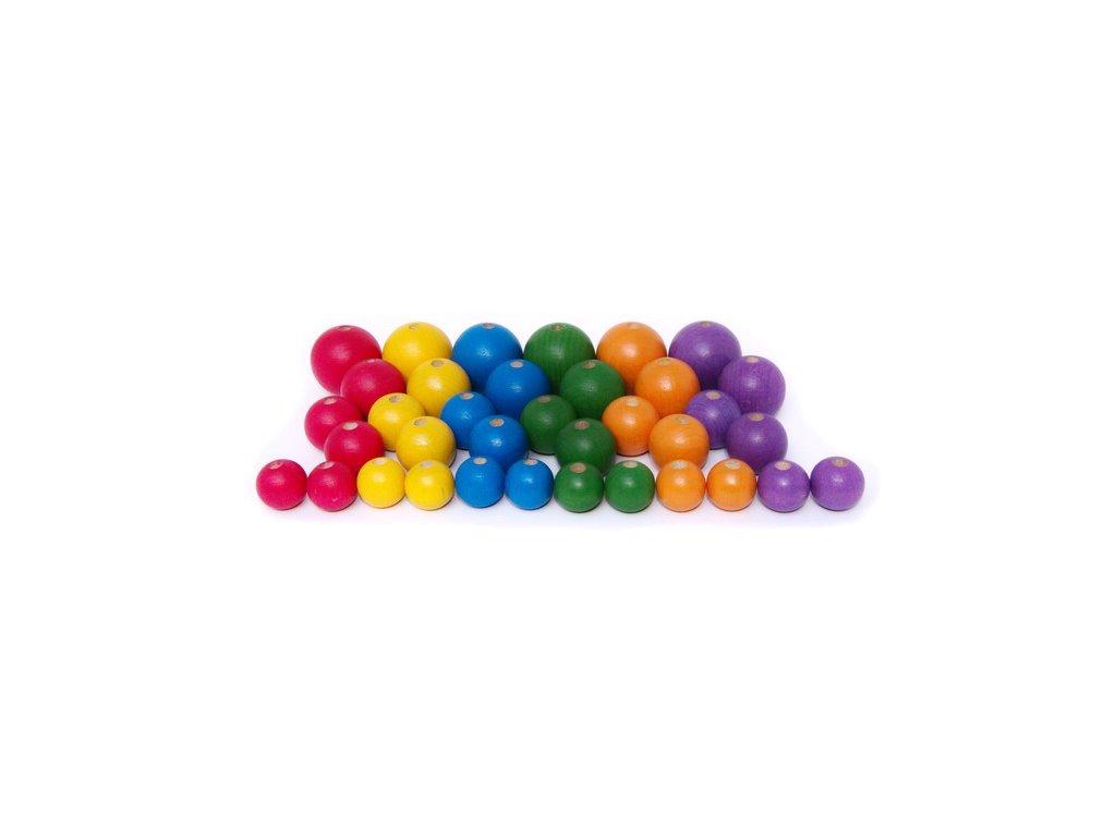 korálky 6 barev 36 ks