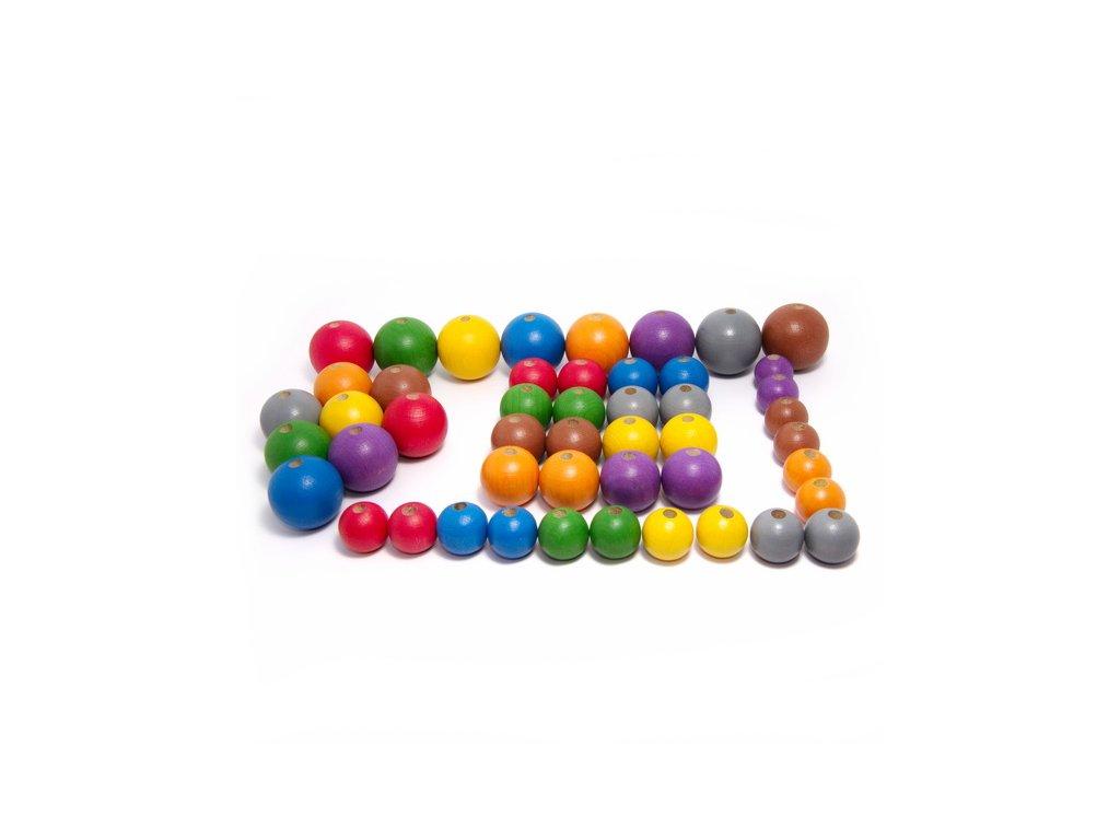 korálky 8 barev 48 ks