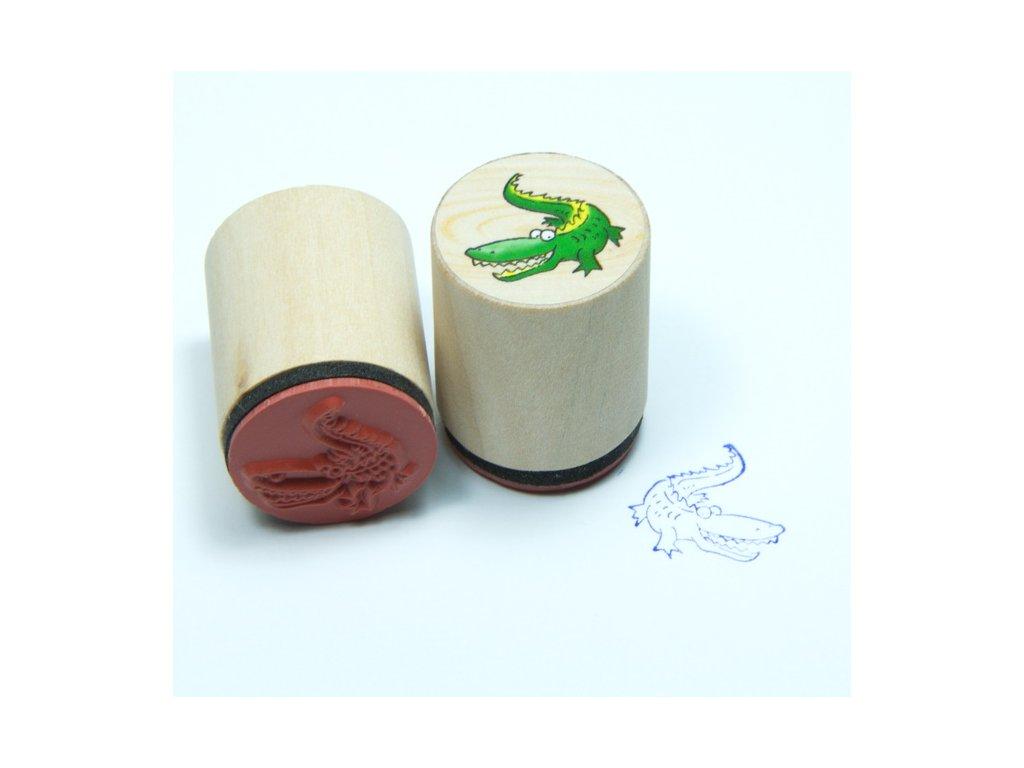 Goki Krokodýl - dřevěné razítko