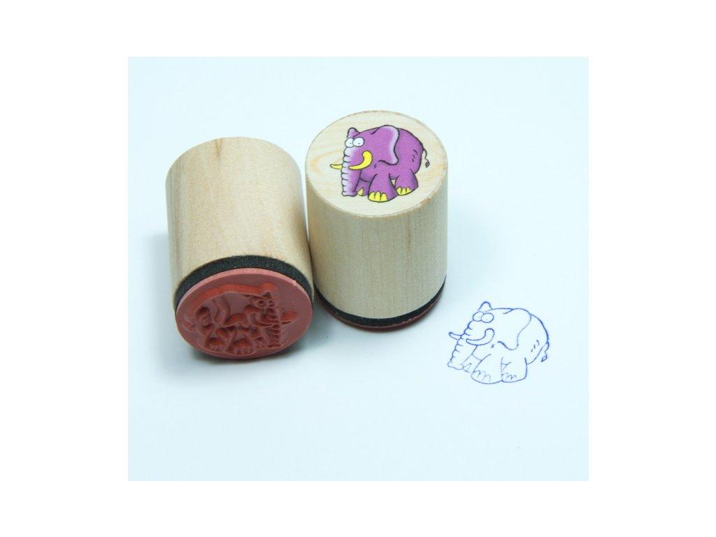 Goki Slon - dřevěné razítko
