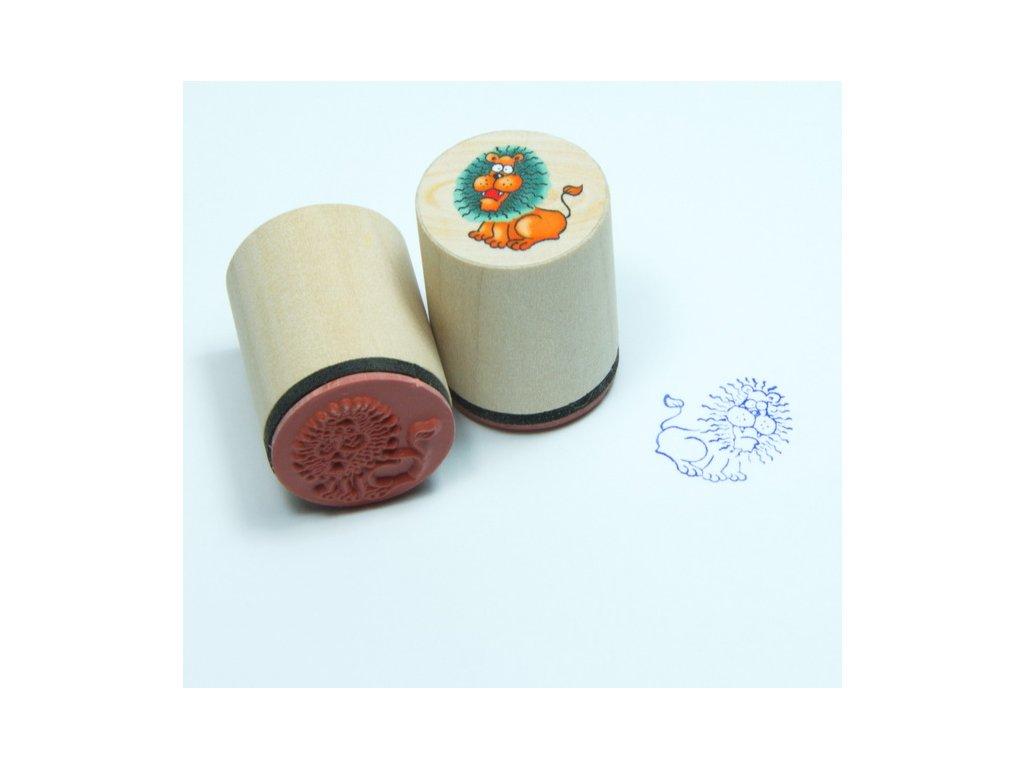 Goki Lev - dřevěné razítko