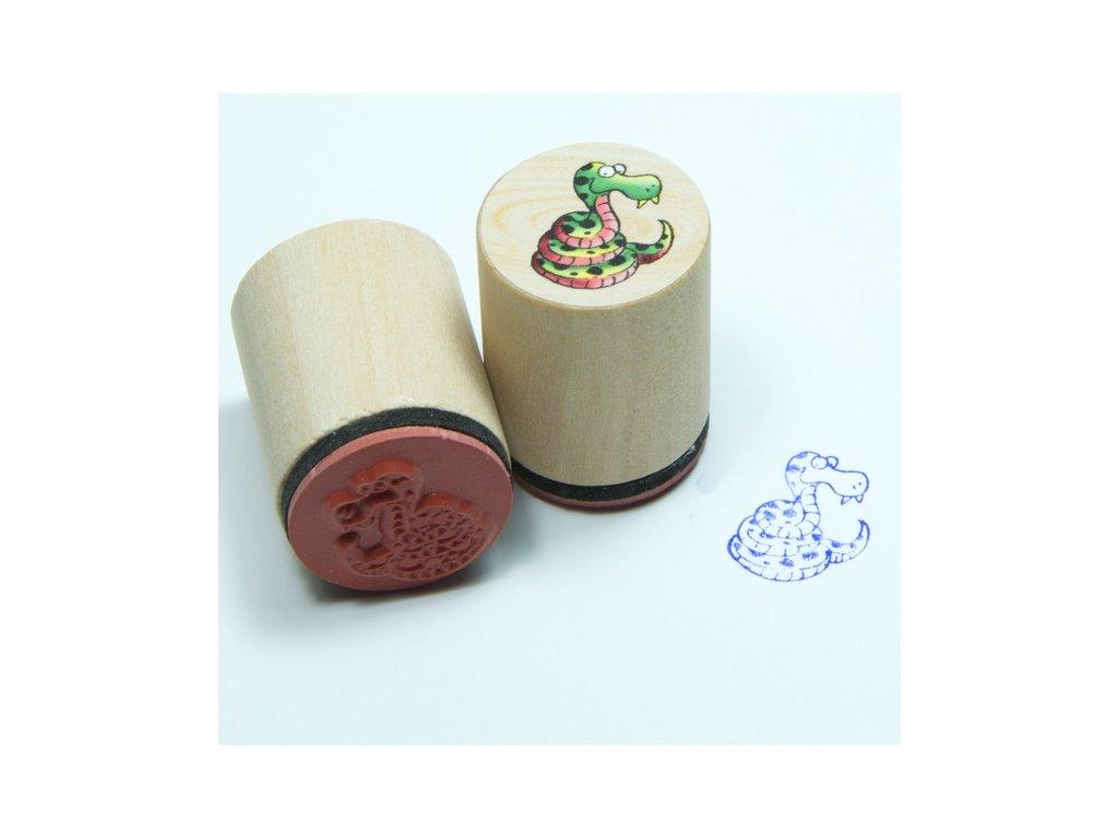 Goki Had - dřevěné razítko