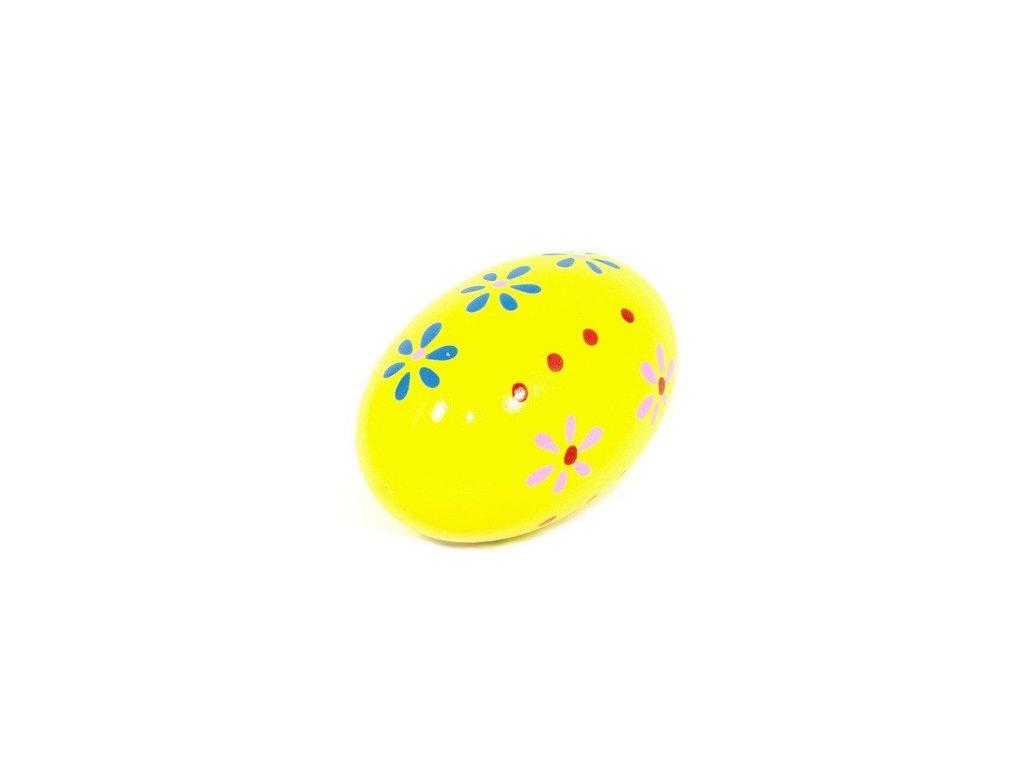 Rumbakoule vajíčko - žlutá s kytičkami