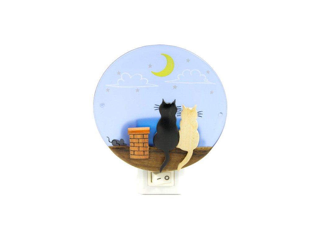 Noční světlo - Kočky za komínem