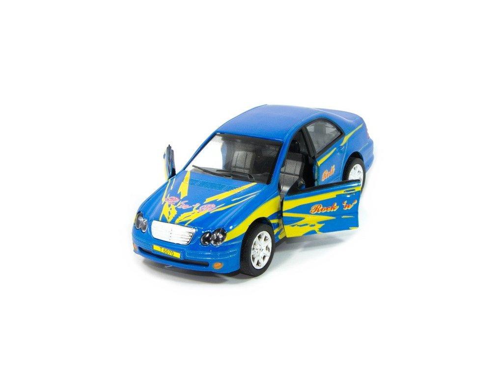 Sportovní auto s osvětlením - modré