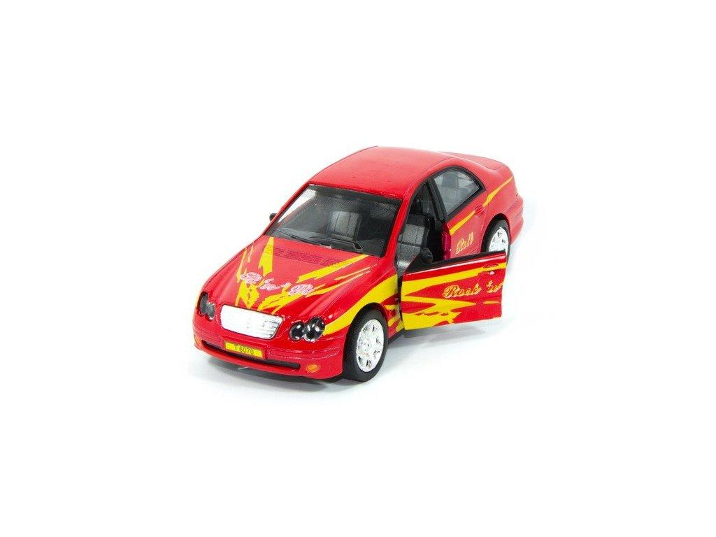 Sportovní auto s osvětlením - červené