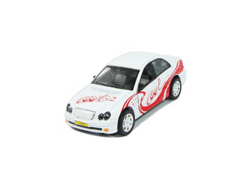 Sportovní auto s osvětlením - bílé