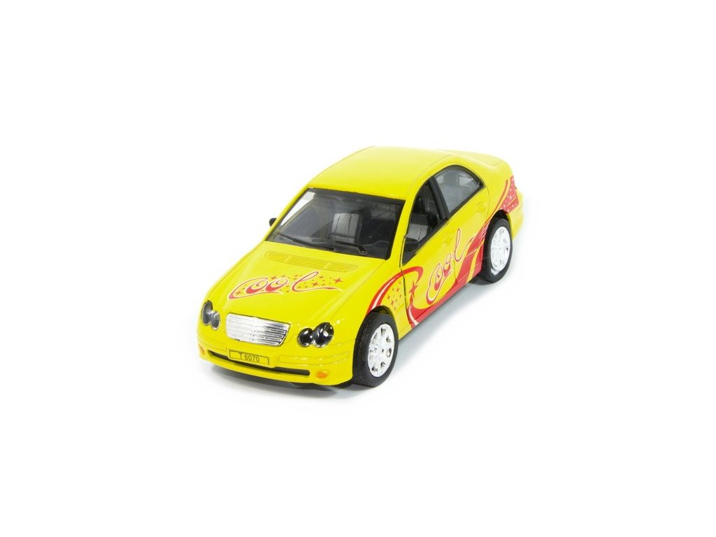 Sportovní auto s osvětlením - žluté