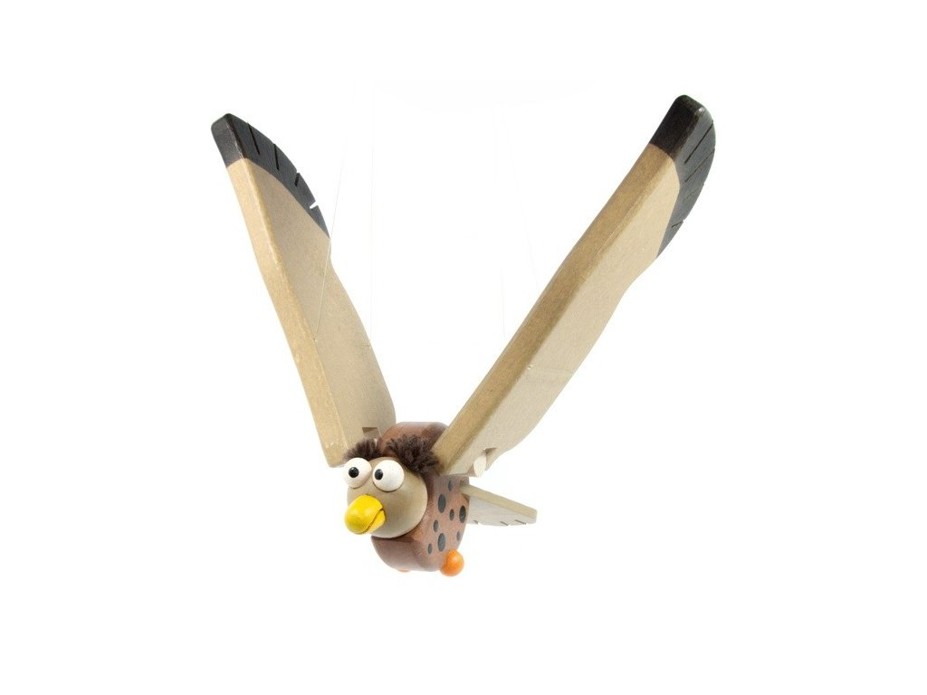 Létací sova vykulená
