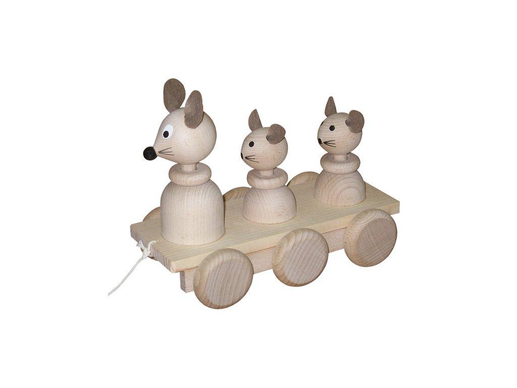 Tři myšky přírodní