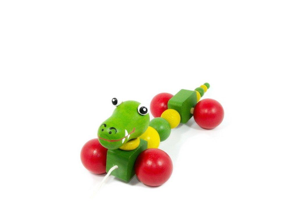 Tahací krokodýl barevný