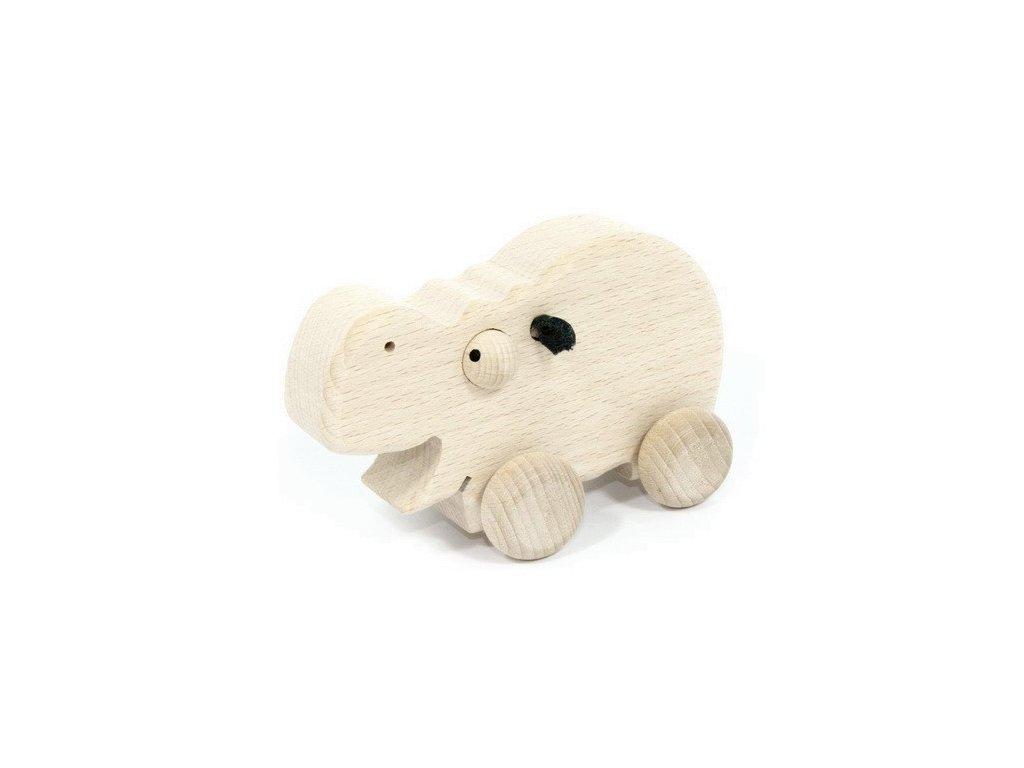 Přírodní zvířátko na kolečkách - Hroch