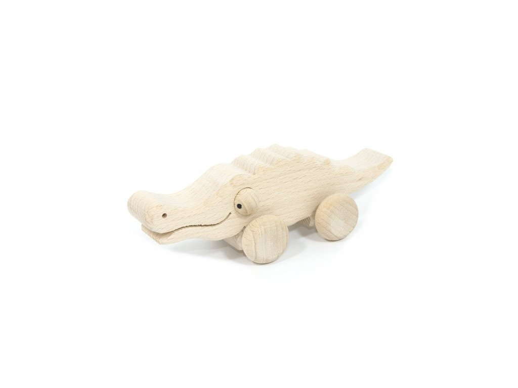 Přírodní zvířátko na kolečkách - Krokodýl