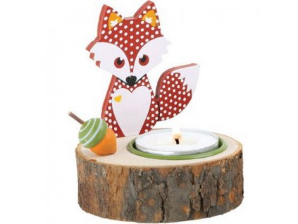 Stojan na svíčku - liška červená