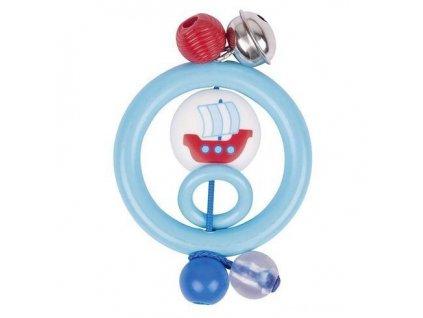 Plastová hračka do ruky – kroužek loďka