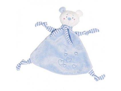 Mazlivá hračka usínáček – Modrý medvídek se srdíčkem