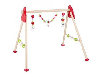 Srdíčka – dřevěná hrazdička pro miminka