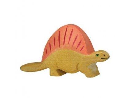 Dimetrodon – dřevěná vyřezávaná hračka