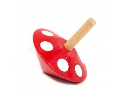 Káča červená s puntíky