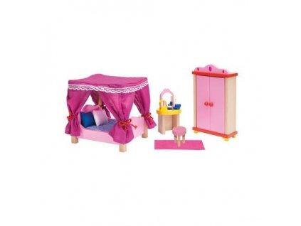 Zámek – nábytek pro panenky ložnice, 13 dílů