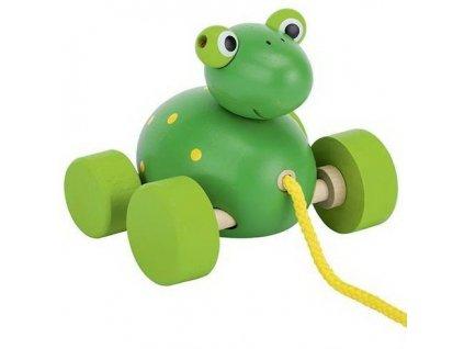 Tahací dřevěná hračka – Žába
