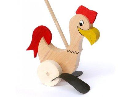 Kohout na tyči červený ocas - plácačka