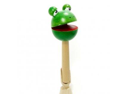 Dřevěná klepačka – Žabka